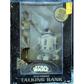 C-3PO & R2D2 Electronic Talking Bank Star Wars Diecast Collectible Original Soundtrack Music (Talking Bank)