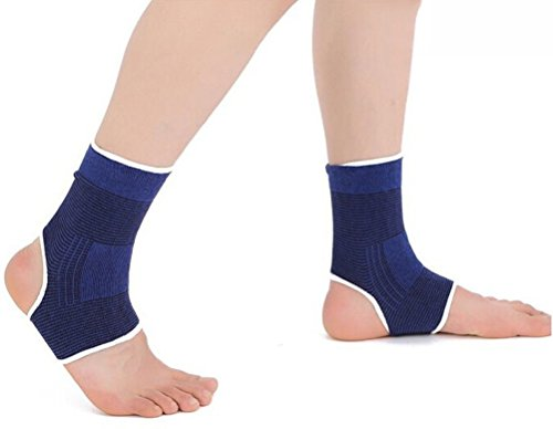 2 X Yonger Ankle Support Compression Sock Sleeves for Plantar Fasciitis Foot Ankle Arch Support Pain Relief for Men and Women