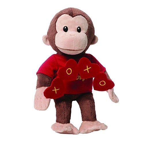 GUND Curious George Valentine's Day Monkey Stuffed Animal Plush, 10