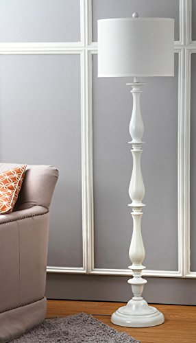 Safavieh Lighting Collection Bessie Candlestick White 62-inch Floor Lamp ()