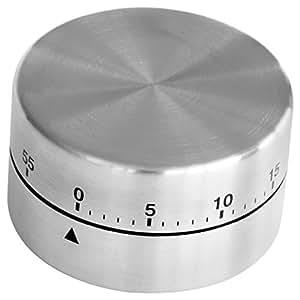 Fackelmann–Temporizador de cocina magnética de acero inoxidable, 60minutos)