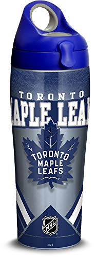 Tervis 1319495 NHL Toronto Maple Leafs Ice Stainless Steel Insulated Tumbler with Lid, 24 oz, Silver