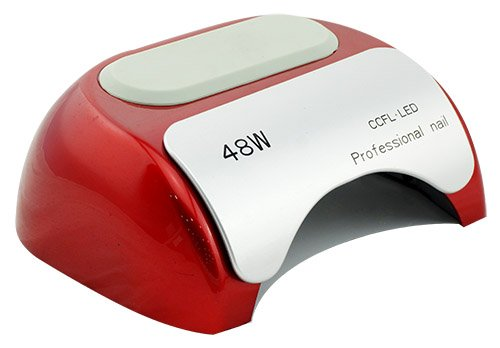 Cris Nails® Nageltrockner, automatische Induktion mit Timer CCFL + LED-Lampe mit UV-Licht, 110-220 V, 48 W rot