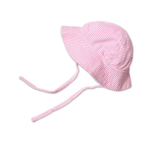 Zutano Baby Girls' Sun Hat Candy Stripe, Hot Pink, 12 Months