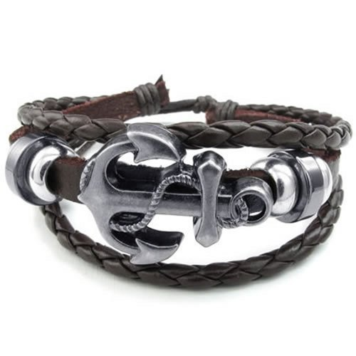 KONOV Womens Leather Bracelet Vintage