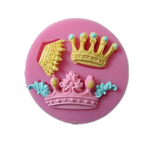 Allforhome(TM) 3 Cavity Mini Queen Crown Mold Silicone craft diy Chocolate Fondant Candy Making Moulds Cake (Wholesale Silicone Molds)