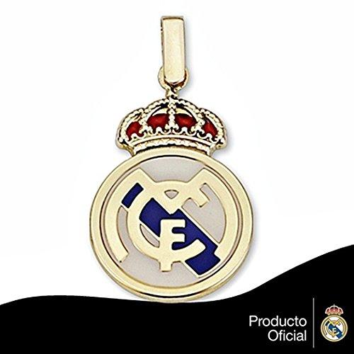 Pendentif Real Madrid bouclier 18k de la loi de 24mm en or. émail [6439] - Modèle: 30-012