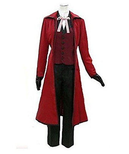 Anime Black Butler Grell Sutcliff Jazz Cloth Cosplay Costume-Male-XX-Large