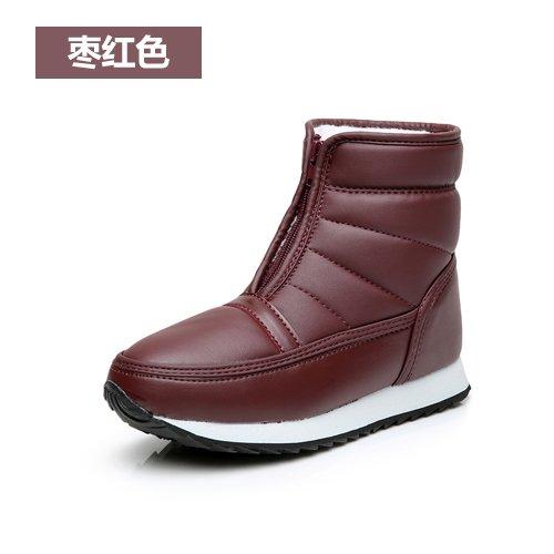 SQIAO-X- Inverno madre scarpe scarpe di cotone vecchi Snow Boots stivaletti caldo impermeabile corto a fondo piatto e stivali ,37, ? anziani.
