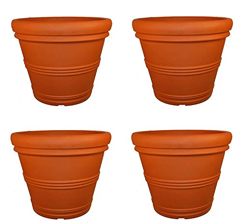 Tusco Products T30 Rolled Rim Pot, Round, Terra Cotta, 30-Inch (Pack of 4)