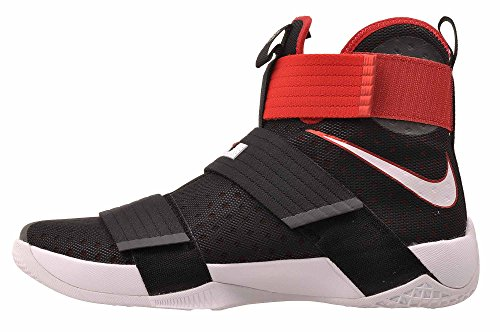 Nike Mens Lebron Soldier 10 Black / White   University Red 11.5 M US