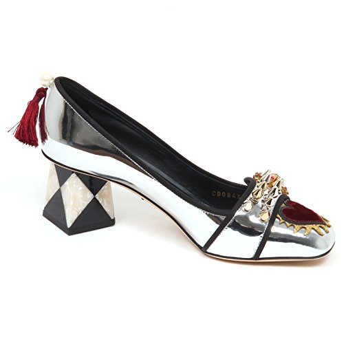 Gabbana Decollete E6838 Dolce Argento Woman Silver Scarpe Donna Shoe amp; Specchio 5qwA4HRw