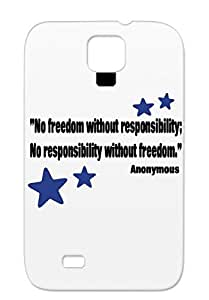 TPU Freedom Responsibility Awareness News Politics Quotes Theodore Roosevelt For Sumsang Galaxy S4 Navy Case