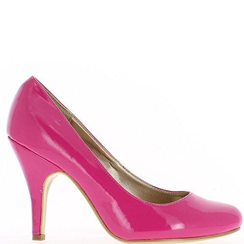 tacón de 8cm de de Zapatos mujer pintados negra PUq5E7n