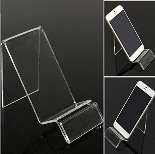 Transparent Rack Acrylic (ZHONGJIUYUAN 10 Pack Universal Transparent Mobile Phone Show Holder Acrylic Display Stand Cell Phone Tablet Rack Bracket)