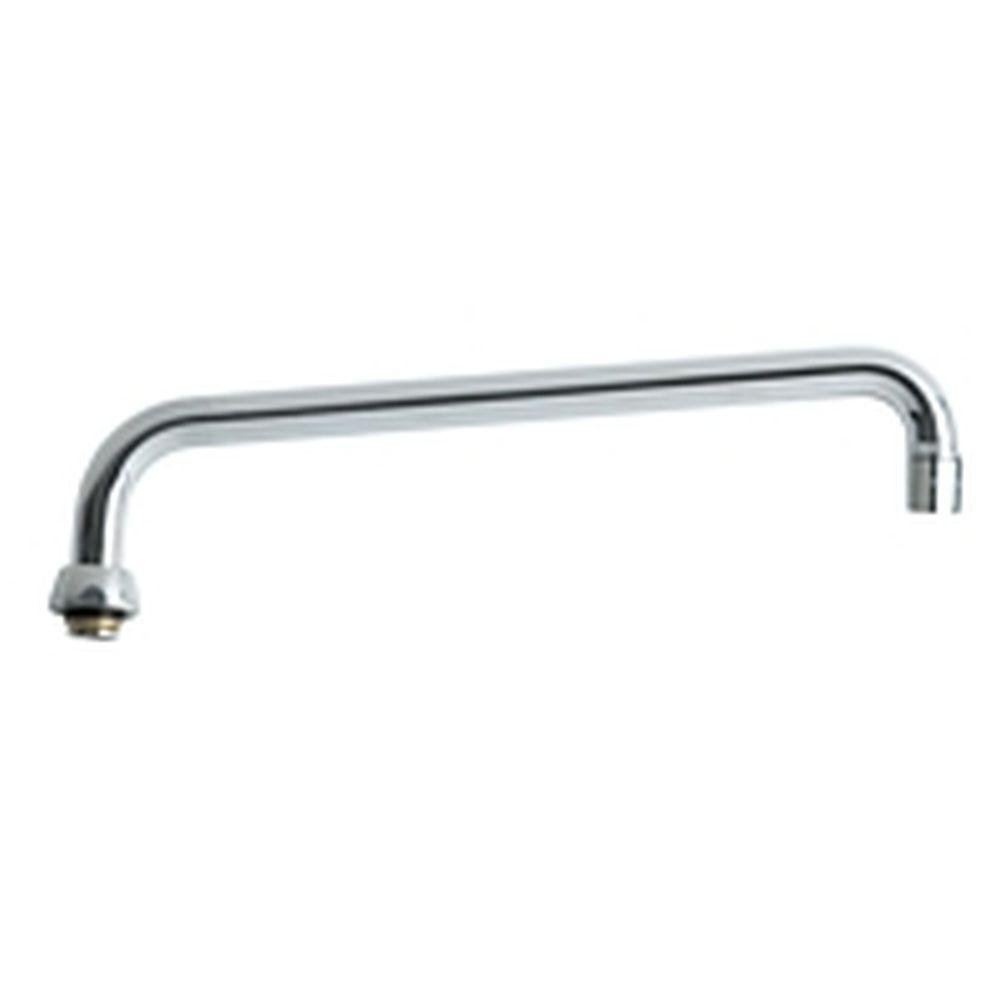 Chicago Faucets - 12 in. L-Type Swing Spout - Chrome