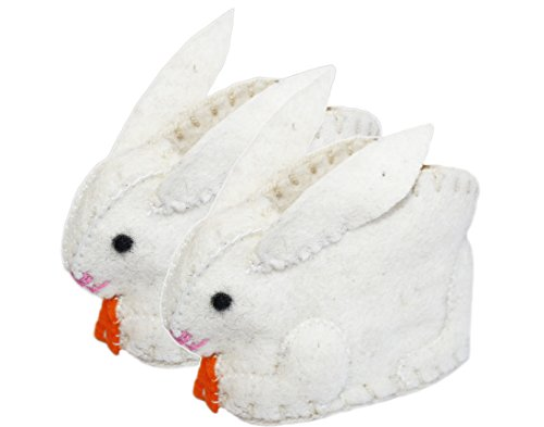 (Silk Road Bazaar Bunny Infant Zooties, White, One Size )