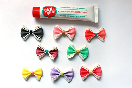 - Girlie Glue Tube and 8 vintage bows for babies and pets