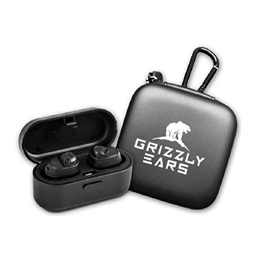 Grizzly Ears Predator Pro Shooting Earmuffs with Bluetooth: Amplifies Sound and Reduces Gunshot Noise | Pairs with Smart Phone | Charging Case Included