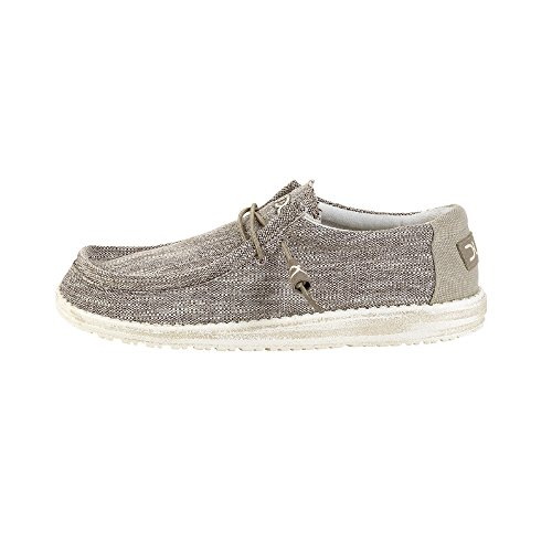Hey Dude Herren Wally Woven Schuhe Grau