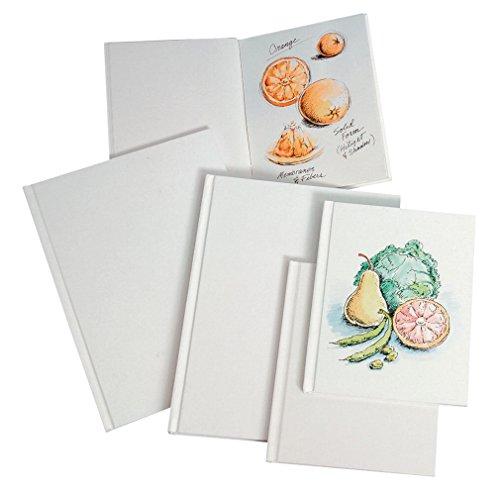 Sax Blanc 60 Page Hard Cover Sketch Books - 6 1/2 x 8 1/4 inches - Pack of 4 - White