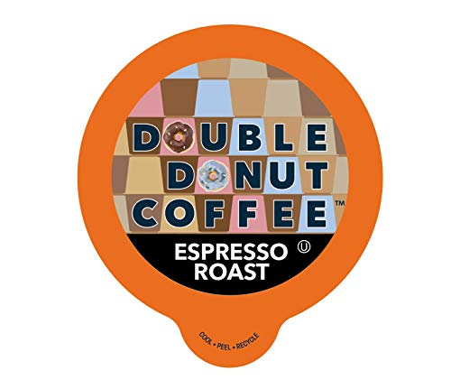 Double Donut Double Donut Espresso Roast Coffee, In Recyclable Single Serve Cups For Keurig K,Cup Brewers, 80 Count, 2.9 -