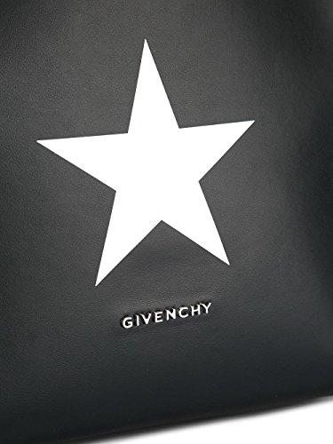 GIVENCHY FEMME BB05481469004 BLANC/NOIR CUIR SAC TOTE