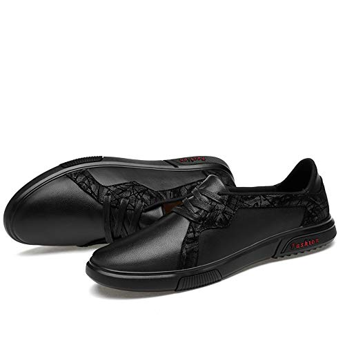 Dos Hombre Mocasines J Moda Oxford Planos Encaje Para Antideslizante Punta Zapatilla Tonos Cuero Negro Redonda Ligera tumia Negocios De Zapatos Vestir ZgfpBZ