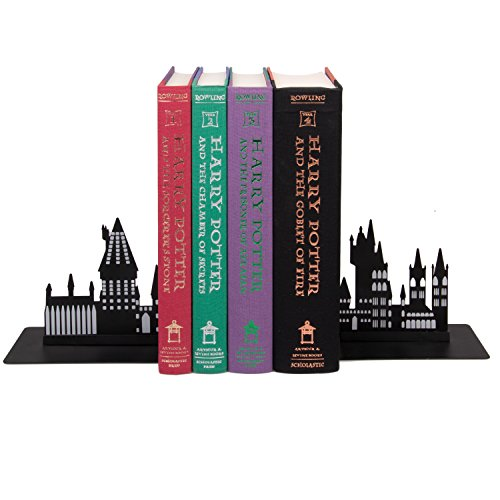 Harry Potter Hogwarts Bookends - Decorative Metal Hogwarts School Castle Design