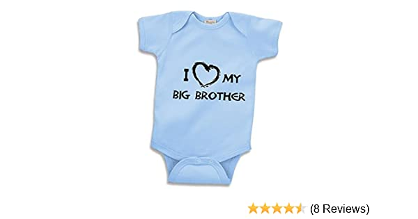 2c441a2f7 Amazon.com: I Love My Big Brother Infant Baby Onesie Clothing Great Gift:  Clothing