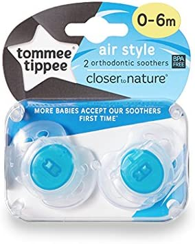 Tommee Tippee Closer to Nature Air-Style Soothers 0-6m Blue