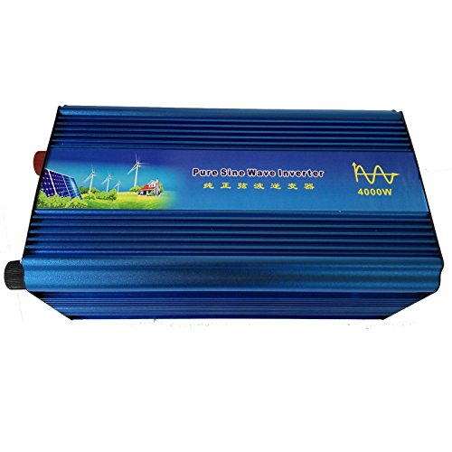 Holdwell DC 12V to AC 220V AC200-240V Power Pure Sine Wave Inverter 4000W ()