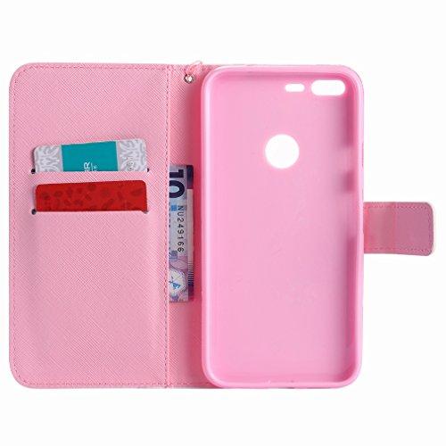 Para Diseño Ranura Google Pu Cover Rosa Xl Estuches Billetera Funda Estilo Piel Pixel Cuero Tarjetas Color Carcasa Protector Cáscara De Yiizy Coño Hq8UU7