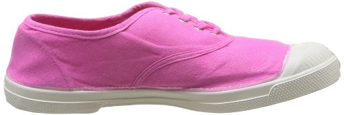 Bensimon Tennis Lacet - Zapatos de cordones Mujer Rose Vif 468