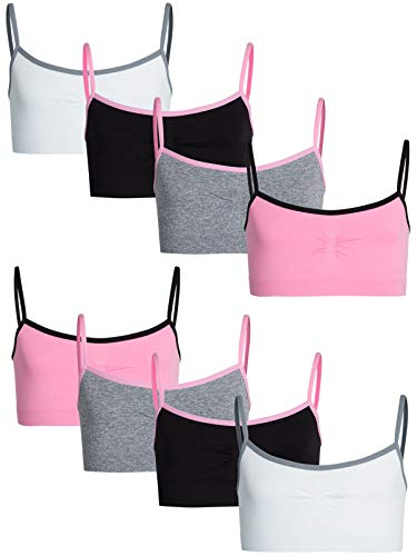 Sweet Princess Girls Nylon/Spandex Seamless Training Bra (8 Pack) (Heather Grey, Large / 14-16)' ()
