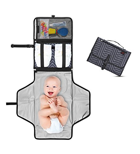 Portable Changing Pad & Clutch - Detachable and Wipeable Mat