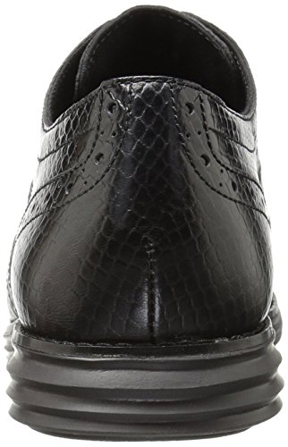 Cole Haan Vrouwen Originele Grand Vleugeltip Oxford Zwarte Slangenprint Leer / Optic White