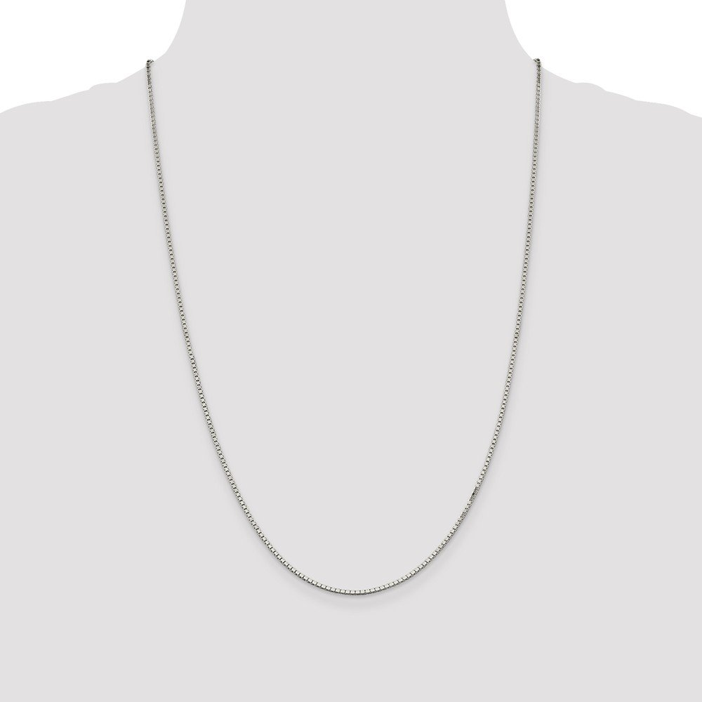 925 Sterling Silver Rhodium-plated Box Chain Necklace in Silver Choice of Lengths 16 20 22 24 30 18 and Variety of mm Options