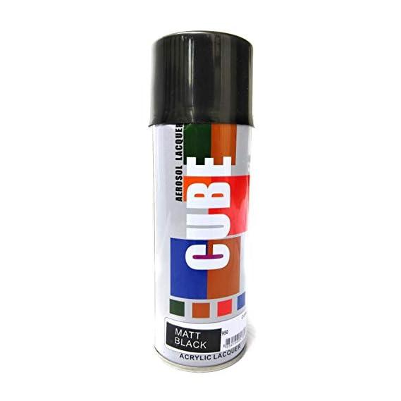 Multimood CUBE Aerosol Black Matt Spray Paint for Car, Bike, Cycle