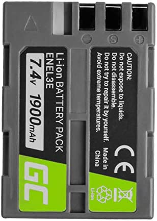 Green Cell® EN-EL3 EN-EL3a EN-EL3e ENEL3 ENEL3a ENEL3e Batería para Nikon DSLR D100 D200 D300 D300s D50 D70 D700 D70s D80 D90 D900 Cámara, Full Decoded (Li-Ion Celdas 1900mAh 7.4V)