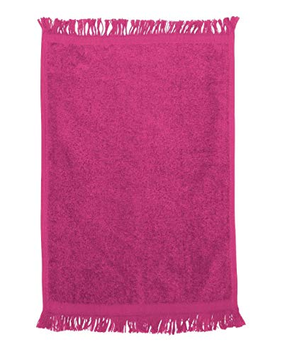 Georgiabags Terry Velour Fingertip Towel with Fringed Ends, 11