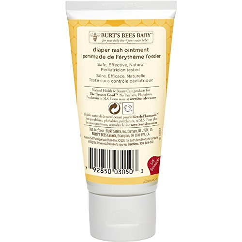 Large Product Image of Burt's Bees Baby Bee 100% Natural Diaper Rash Ointment - 3 Ounce Tube