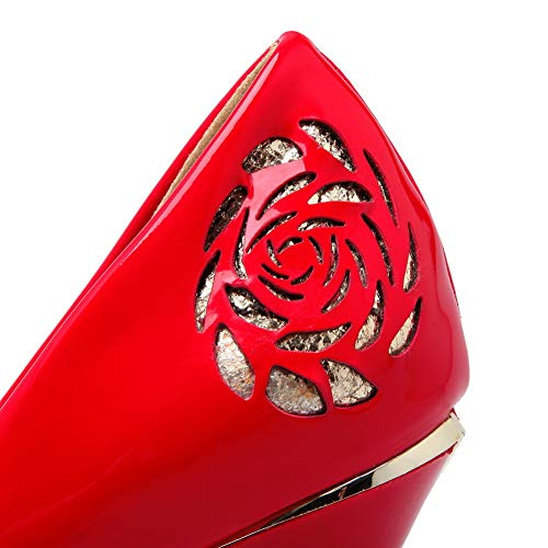 35 Red EU AdeeSu Donna Plateau SDC05800 Rosso con xYXwqyHvw4