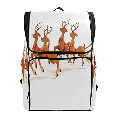 Laptop Backpack Christmas Horse Duffle Backpack for Men Large Casual Fashion Daypack