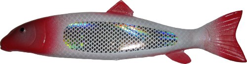- K&E S-91FS Sucker Spearing Decoy Lure, Red Head Flash Scale, 9-Inch