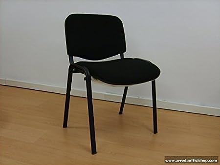 Poltrona sedia visitatore Margherita (Nero) ARREDA UFFICI