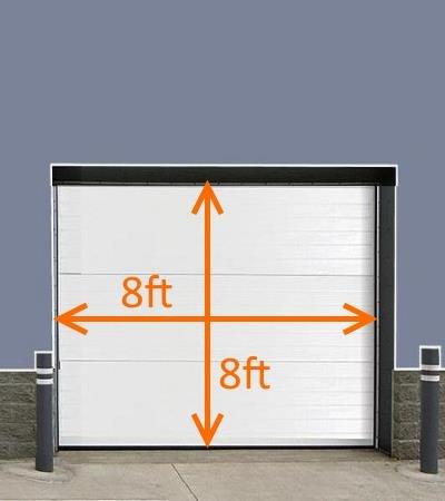 2'' Brush Seal Kit for 8' wide x 8' high Roll-up Door, Sectional Steel Door, Commercial Door, High Speed Fabric Door by JaCor Brush Seal Kits