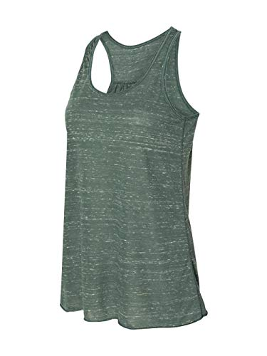 Canvas Forest Green - Bella + Canvas B8800 Ladies' Flowy Racerback Tank Forest Marble L
