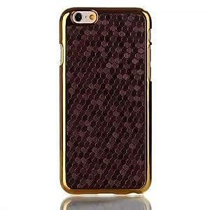 LZX Football Grain Electroplating Veneerl Hard Case for iPhone 6 Plus (Assorted Colors) , Black