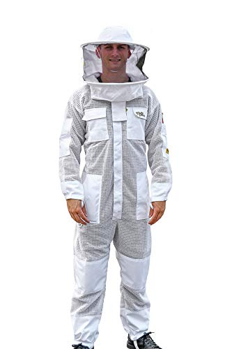 OZ ARMOUR Beekeeping Suit Ventilated ULTRA COOL Three Layer Mesh with Fencing Veil & Round Brim Hat by Oz Armour (Image #8)